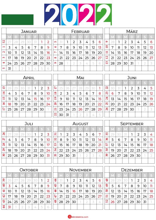 kalender sachsen 2022
