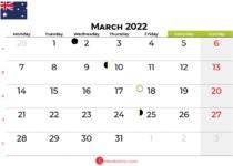 march 2022 calendar australia