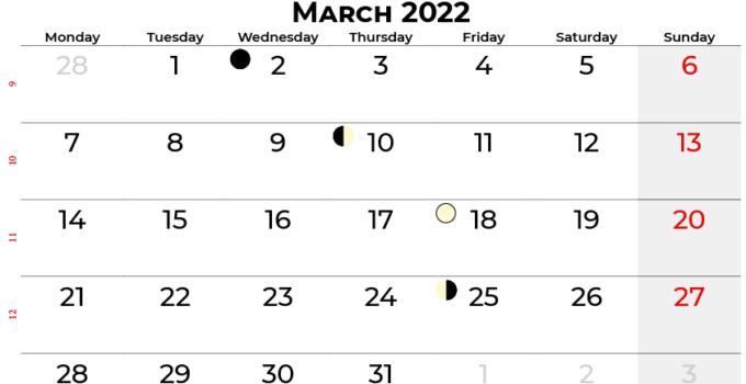 march 2022 calendar united kingdom