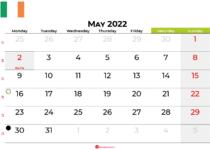 may 2022 calendar ireland