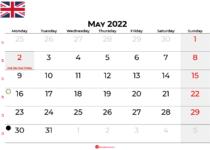 may 2022 calendar united kingdom