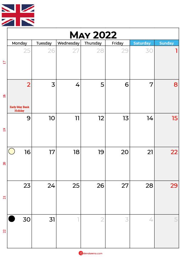 may calendar 2022 united kingdom
