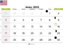 april 2022 calendar united states