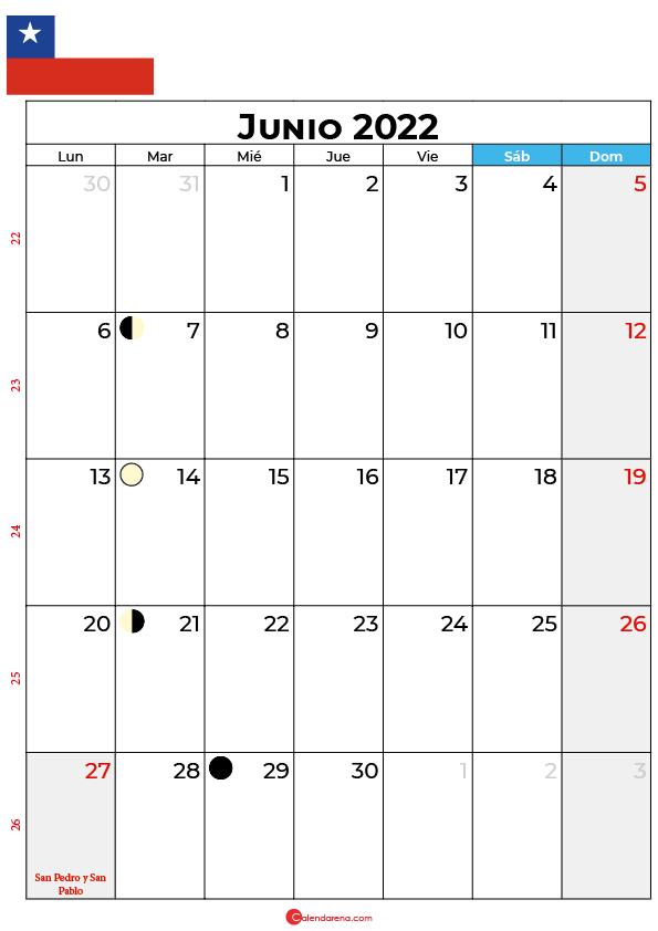 calendario 2022 junio Chile