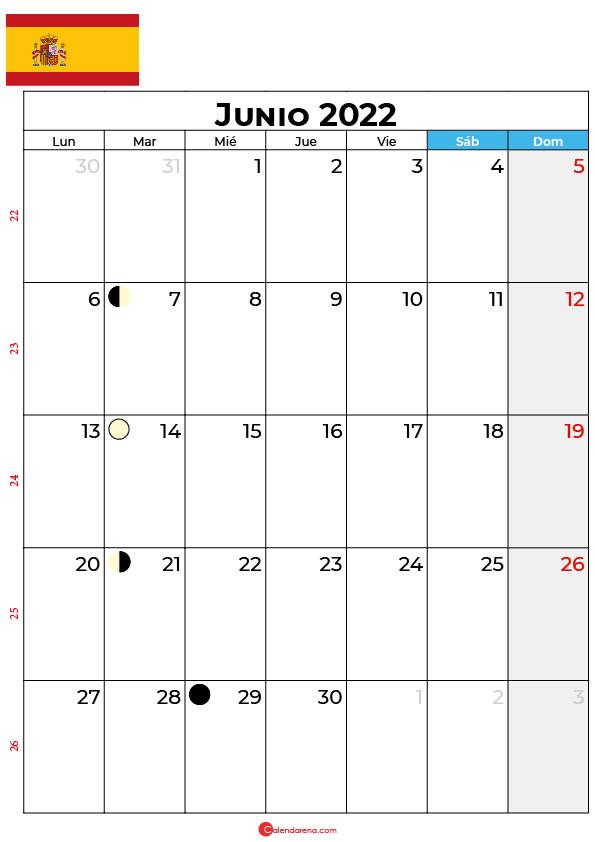 calendario 2022 junio España