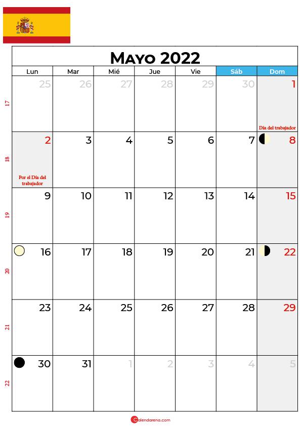 calendario 2022 mayo España