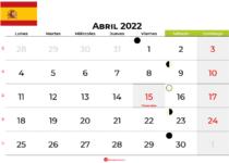 calendario abril 2022 España