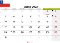 calendario enero 2022 Chile