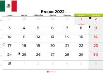 calendario enero 2022 México