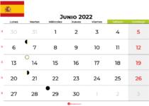 calendario junio 2022 España