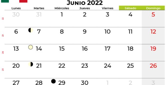 calendario junio 2022 México