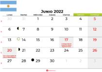 calendario junio 2022 argentina