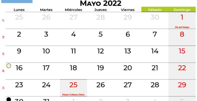 calendario mayo 2022 argentina