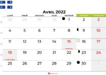 calendrier avril 2022 québec canada