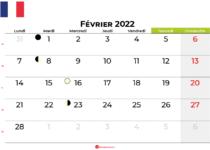 calendrier février 2022 france