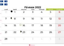 calendrier février 2022 québec canada