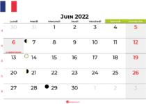 calendrier juin 2022 france