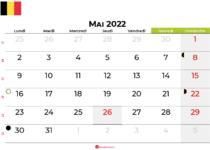 calendrier mai 2022 belgique