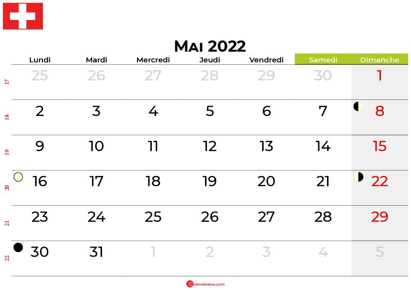 calendrier mai 2022 suisse