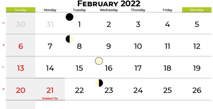 february 2022 calendar united states
