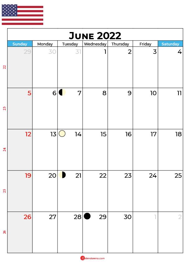 june calendar 2022 united states