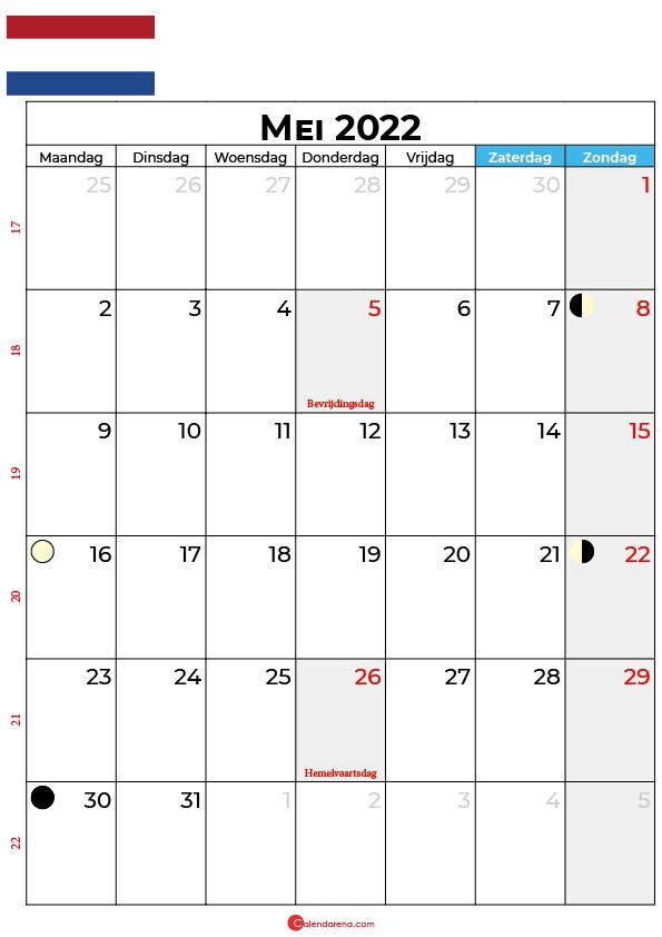 kalender 2022 mei Nederland