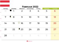kalender februar 2022 Österreich