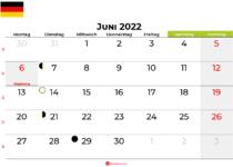 kalender juni 2022 Deutschland
