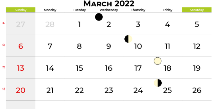 march 2022 calendar united states