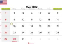 may 2022 calendar united states