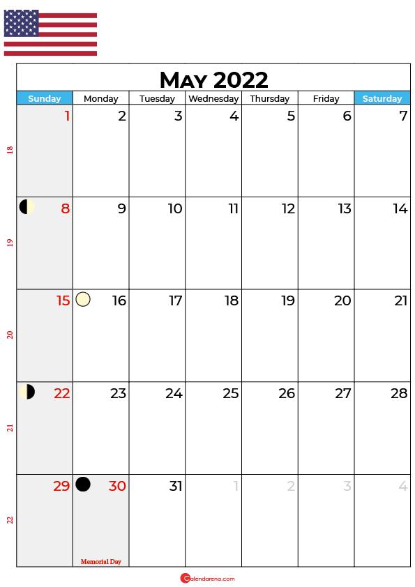 may calendar 2022 united states